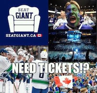 CHEAP!! CANUCKS VS. FLAMES TICKET FEBUARY 9TH. Vancouver