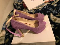 pair of purple peep-toe stilettos Cicero, 60804