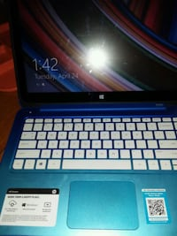 HP stream laptop touch screen blue