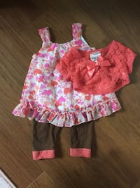 girl's pink and white floral dress Ajax, L1S 6Z2