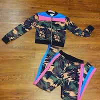 New! Camouflage Neon Striped Jogger Set Washington, 20018