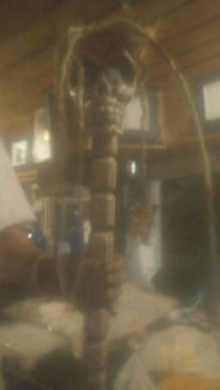 Authentic Skull tribal stick from bali Duncan