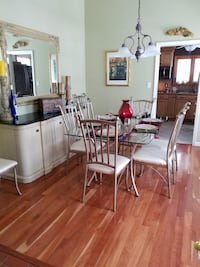 Metal Table with Glass Top and 8 Chairs Ballwin, 63011