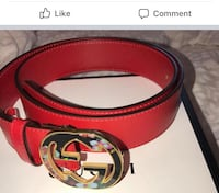 red Gucci leather belt with box Jersey City, 07306