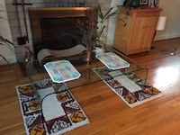 Sleek clear glass coffee table Silver Spring, 20910