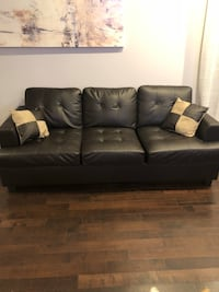 Leather (faux) Couch Set - $750 28 km