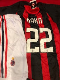 Kids soccer jersey and shorts kaka