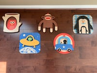 Kids Wall Art - set of 5 pieces Herndon, 20171