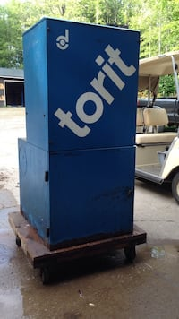 blue and white torit steel box case Summit, 16316