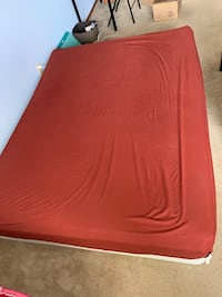 Queen size metal box frame with mattress