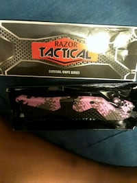 black and pink Razor Tactical survival knife with box Greenville, 29611