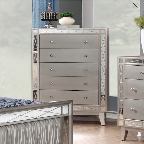 Prime Used Silver 5 Drawer Dresser With Mirror Trim For Sale In Short Links Chair Design For Home Short Linksinfo