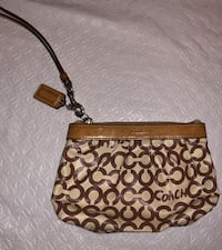 adorbale leather coach wristlet