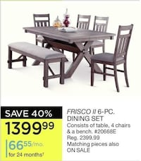 FRISCO DINING SET - Like new Pointe-Claire, H9S 5H7