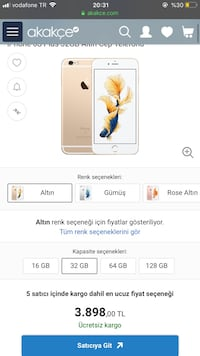 İphone 6 s plus gold sifir ayarindadir Kars Merkez, 36000