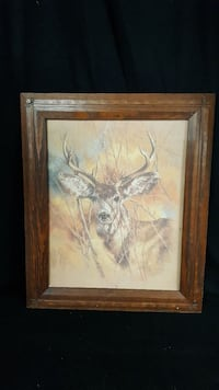 Vintage Buck lithograph from Home Interiors