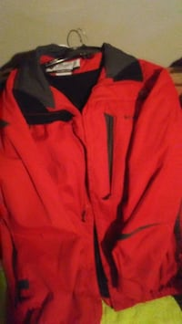 red and black Nike zip-up jacket