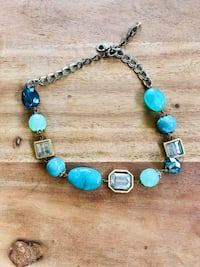 silver and blue beaded bracelet Hampton, 23669