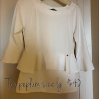 white scoop-neck long-sleeved shirt Mississauga, L5M