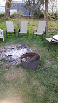 Fire pit ring with grill rack Langley, V1M 3E3