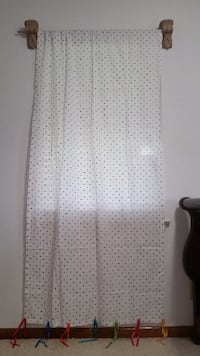 white and black spotted window curtain Chattanooga