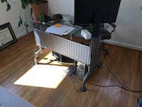 Glass and metal desk. Sturdy.  Rockville, 20853