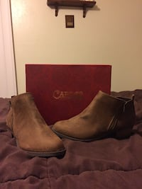 Pair of brown suede boots Arlington