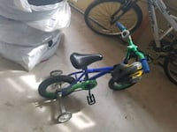 toddler's blue and green bicycle with training wheels Vaughan, L6A 0X9