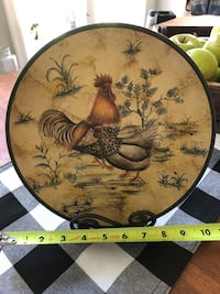 Rooster plate with stand