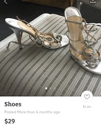 pair of silver-colored open-toe heels screenshot Greenville, 02828