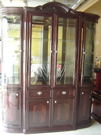 ITALIAN STYLE CHERRY WOOD HUTCH AND 3 PIECE COFFEE TABLE SET ALL FOR $450 FIRM! Mississauga