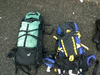2 large hiking backpacks