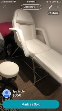 white and gray leather padded rolling chair Richmond Hill, L4S 2K8