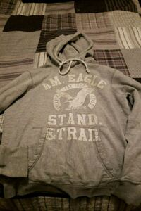 gray and white Aeropostale pullover hoodie 50 km