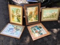 MCM Mid Century Modern Lot Limited Edition Signed Lithograph Art Painting Prints Stafford, 22554