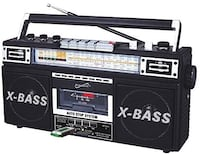 X-bass usb sd and tape cassette recorder combo Calgary, T1Y 2Y1