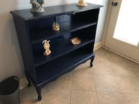 3 shelf cabinet painted blue.  Does have doors with glass.  Pick up in goodlettsville  Goodlettsville, 37072