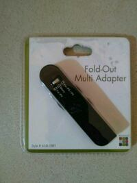 Fold-out Multi Adapter USB/Charger (Black) Lubbock, 79413