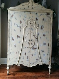 Distressed pale yellow vintage armoire Pittsburgh, 15216