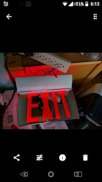 Led exit signs  536 km