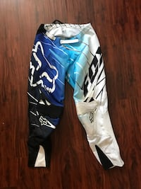 Teal and white Fox Racing track pants Bertha township, 56437