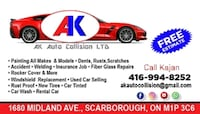 Car detailing and repair body and mechanical job Toronto