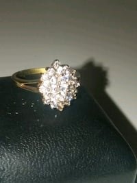 gold-colored ring with clear gemstones Las Vegas, 89121
