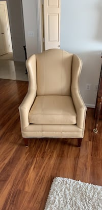Leather wing chair Ashburn