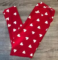 Lularoe Valentine's Day Leggings NEW Red with White Hearts like Minnie Mouse Fairfax, 22033