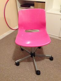 Pink plastic chair (ikea)