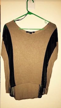 Black and brown long sleeve shirt