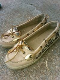 pair of white boat shoes Godfrey, 62035