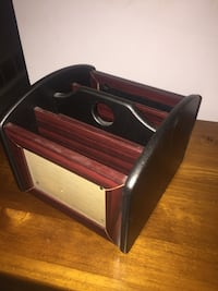 Brown and red wooden organizer Gibbons, T0A 1N0