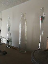 assorted clear glass bottles Guelph, N1H 1J6